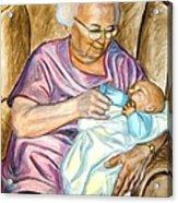 Feeding Baby 1 Acrylic Print