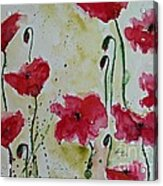 Feel The Summer - Poppies Acrylic Print by Ismeta Gruenwald