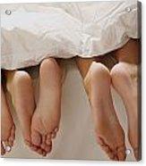 Feet In Bed Acrylic Print