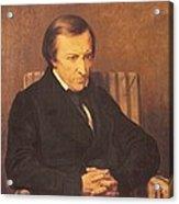 Felicite Robert De Lamennais, 1845 Oil On Canvas Acrylic Print