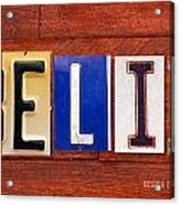 Felix License Plate Name Sign Fun Kid Room Decor Acrylic Print