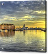 Fells Point Harbor Sunset Baltimore Maryland   Acrylic Print