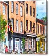 Fells Point Street Acrylic Print
