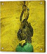 Felt Tip Turquoise Heart Acrylic Print