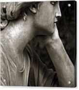 Female Angel Face Closeup - Female Angelic Face Portrait Acrylic Print