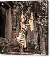 Female Apsara Dancer, Standing On One Acrylic Print