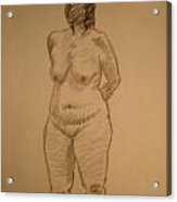 Female Croquis Acrylic Print