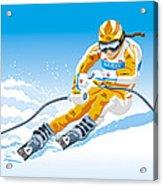 Female Downhill Skier Winter Sport Acrylic Print by Frank Ramspott