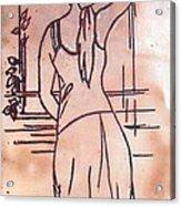 Female Enamel On Copper Acrylic Print