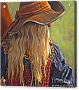 Female Pirate Acrylic Print