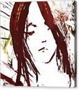 Female Textured Sketch Number 2 Acrylic Print