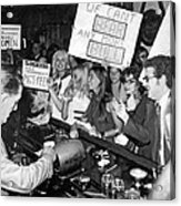 Feminists Protest  Brown's Bar Acrylic Print