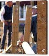 Fence And Cowboy 17525 Acrylic Print