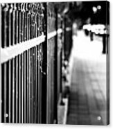Fence At Eight  Acrylic Print