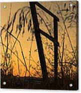 Fence At Sunset I Acrylic Print