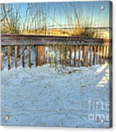 Fence At The Beach In St Augustine Florida Acrylic Print