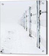 Fence Line In The Fog Acrylic Print