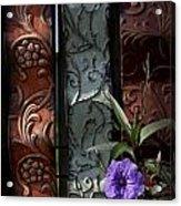 Fence Petunia Acrylic Print