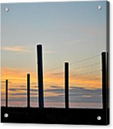 Fence Posts At Sunset Acrylic Print