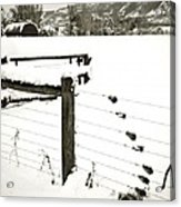 Fence Pulls In Winter Acrylic Print