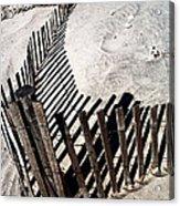 Fence Shadows Acrylic Print by John Rizzuto