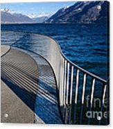 Fence With Shadow Acrylic Print