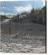 Fenced Dune Acrylic Print