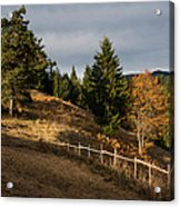Fenced In Warm Autumn Light Acrylic Print
