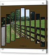 Fenced Pasture Acrylic Print