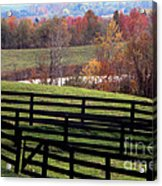 Fences In The Fall Acrylic Print