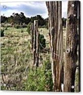 Fences Not Borders Acrylic Print
