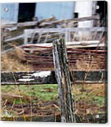 Fencing In The Junk Acrylic Print