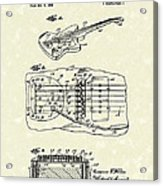 Fender Floating Tremolo 1961 Patent Art Acrylic Print by Prior Art Design
