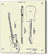 Fender Guitar 1951 Patent Art Acrylic Print