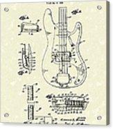 Fender Guitar 1961 Patent Art Acrylic Print