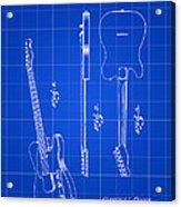 Fender Guitar Patent 1951 - Blue Acrylic Print