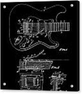 Fender Guitar Tremolo Patent Art 1956 Acrylic Print