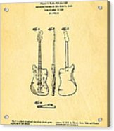 Fender Jazzmaster Guitar Design Patent Art 1959 Acrylic Print