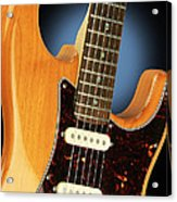 Fender Stratocaster Electric Guitar Natural Acrylic Print