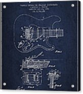 Fender Tremolo Device Patent Drawing From 1956 Acrylic Print