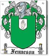 Fennessy Coat Of Arms Irish Acrylic Print