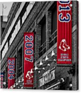Fenway Boston Red Sox Champions Banners Acrylic Print
