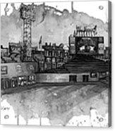 Fenway Bw Acrylic Print by Michael  Pattison