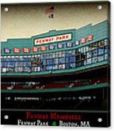 Fenway Memories - Poster 2 Acrylic Print