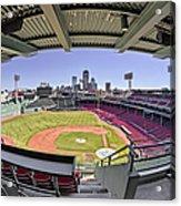 Fenway Park And Boston Skyline Acrylic Print