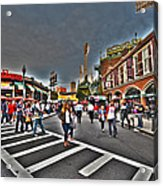 Fenway Park And Cask And Flagon Acrylic Print