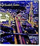Fenway Park Baseball Night Game Digital Art Acrylic Print