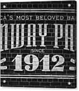Fenway Park Boston Ma 1912 Sign Acrylic Print