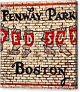 Fenway Park Boston Redsox Sign Acrylic Print
