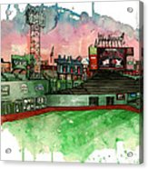 Fenway Park Acrylic Print by Michael  Pattison